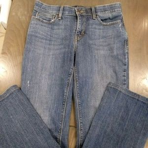 LEVIS 525 Perfect Waist Boot Cut Distressed Jeans